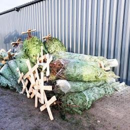 Juletræsfod monteret